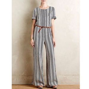 Anthropologie Harlyn Highline Jumpsuit S Wide Leg